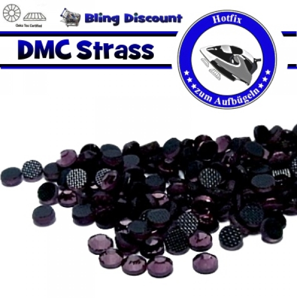 300 SS10 Hotfix DMC -facettierte Strasssteine Glas light Amethyst Hotfix